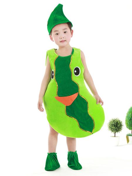 Milanoo Halloween Food Costume Cucumber Kid Cosplay Costume