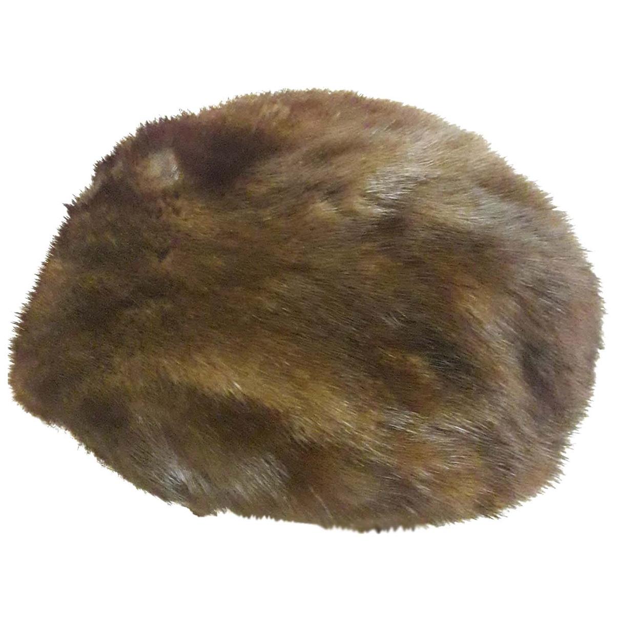 - Chapeau   pour femme en vison - marron