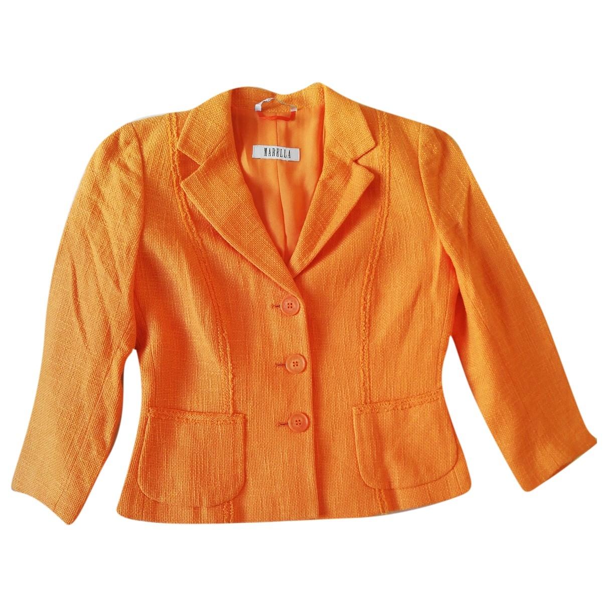 Marella - Veste   pour femme en coton - orange