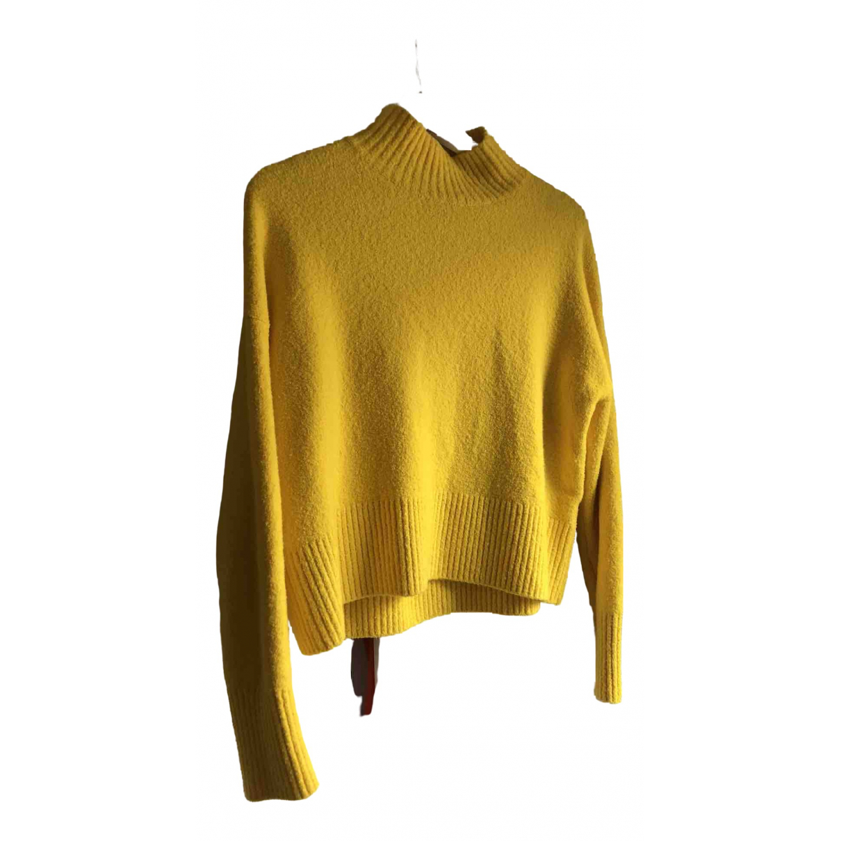 & Other Stories - Pull   pour femme en coton - jaune