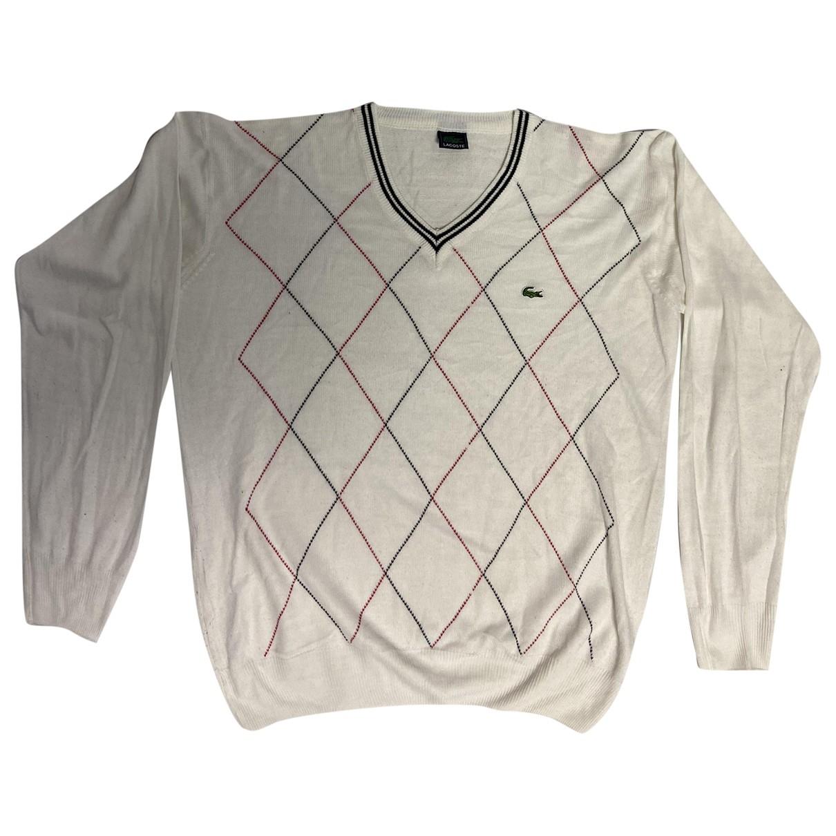 Lacoste \N Pullover.Westen.Sweatshirts  in  Weiss Baumwolle