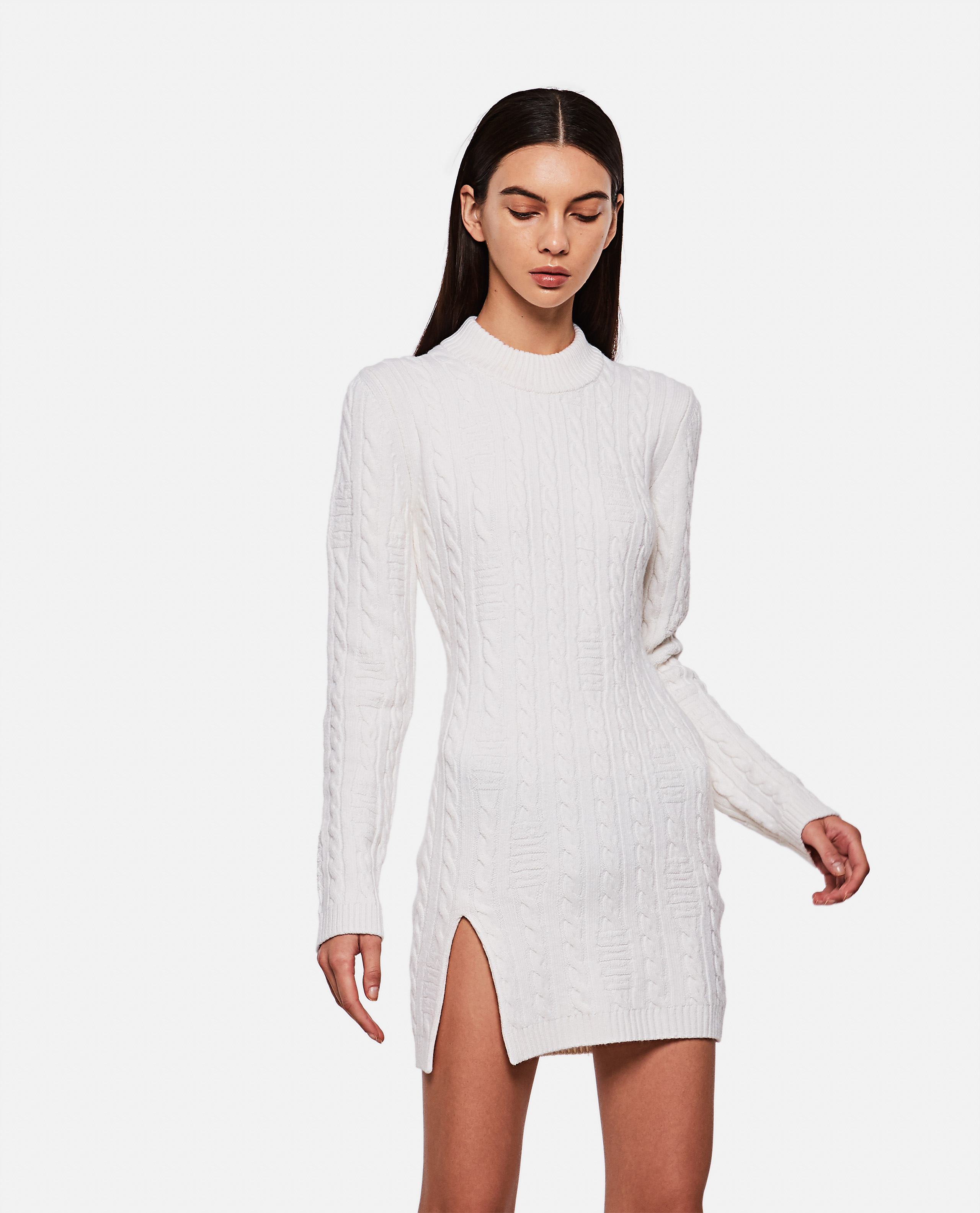 Woven wool dress