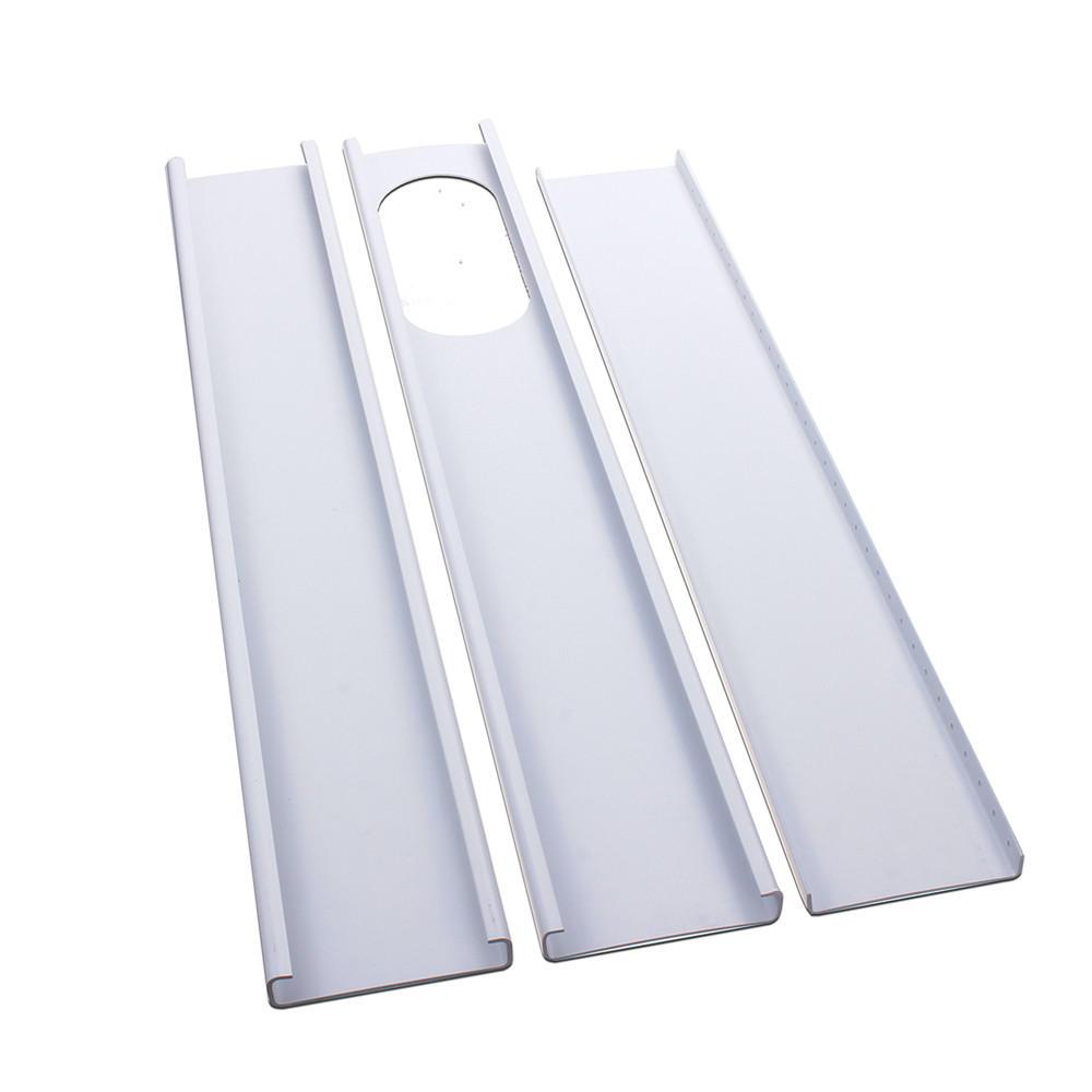 3pcs Adjustable Window Slide Kit Plate Air Conditioner Wind Shield For Portable Air Conditioner