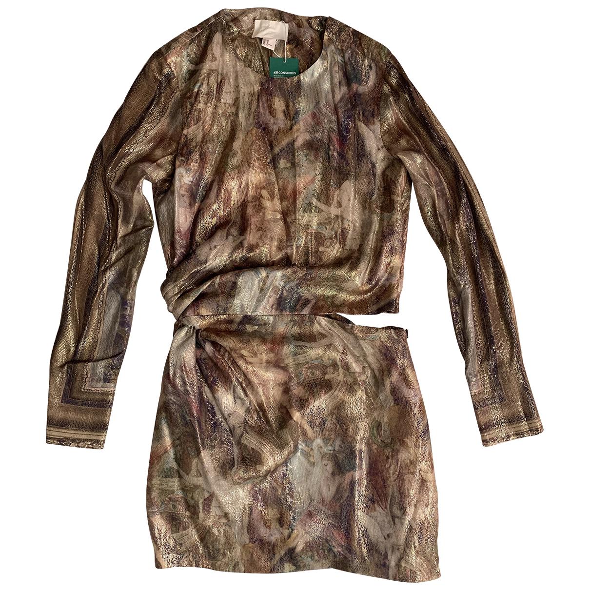 H&m Conscious Exclusive \N Kleid in  Gold Seide
