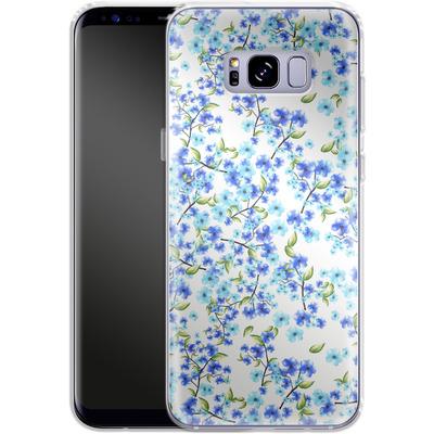 Samsung Galaxy S8 Plus Silikon Handyhuelle - Blue Blooms von Mukta Lata Barua