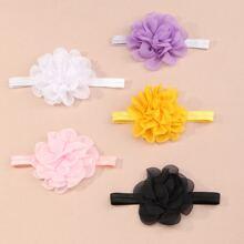 5 piezas diadema de bebe con diseño de flor