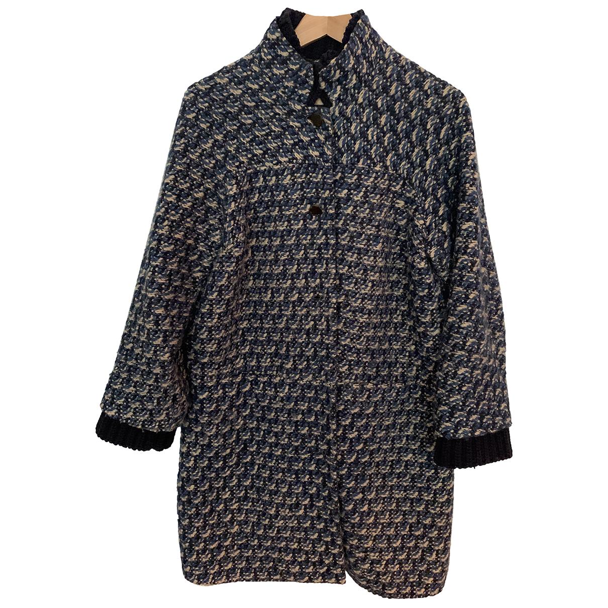 Tory Burch - Manteau   pour femme en laine - bleu