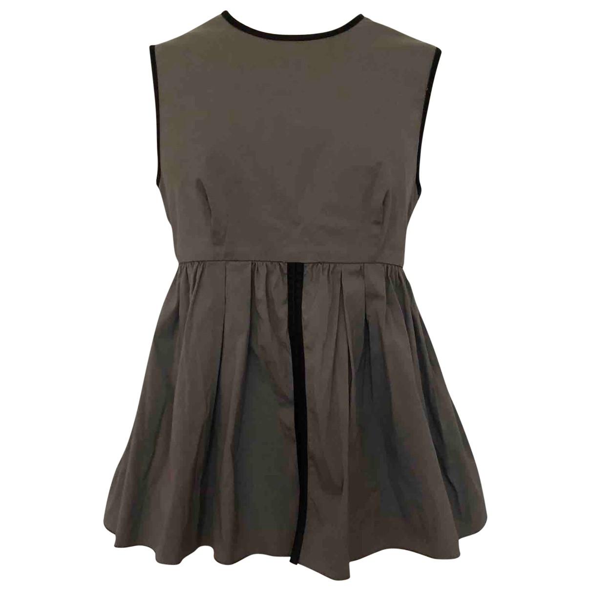 Prada \N Grey Cotton  top for Women 42 IT