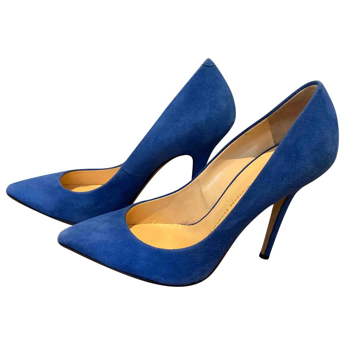 Giuseppe Zanotti - Escarpins   pour femme en suede - bleu