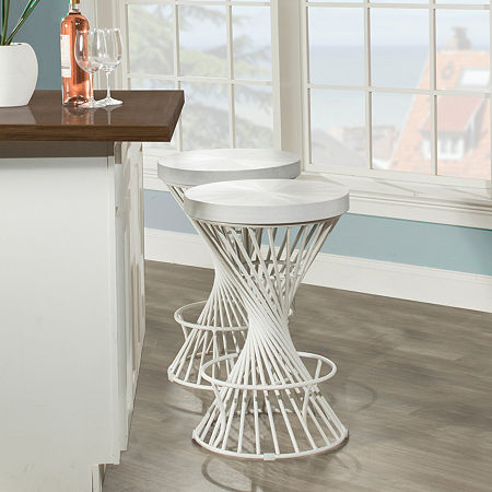 Hillsdale House Counter Height Bar Stool, One Size , White