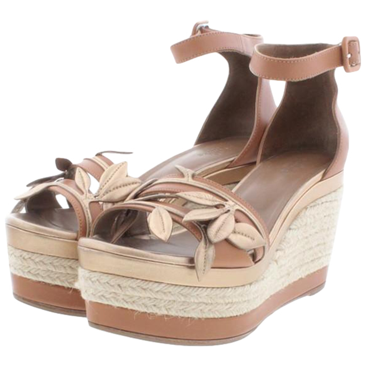 Hermès \N Brown Leather Sandals for Women 36 EU