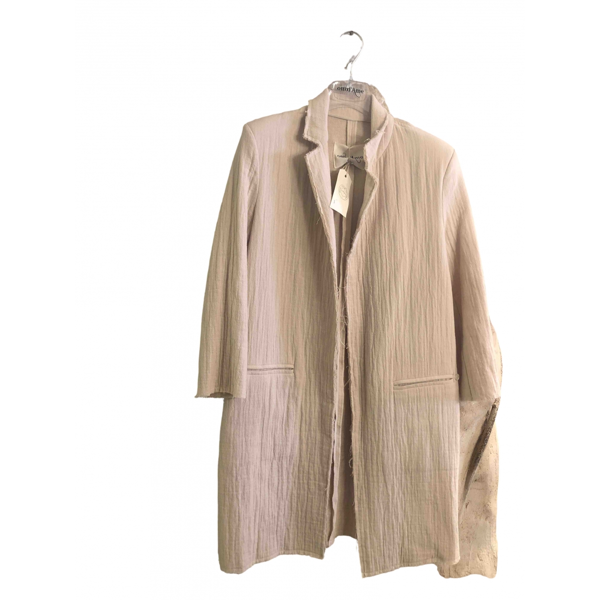 Ottod'ame \N Pink Cotton jacket for Women 40 IT