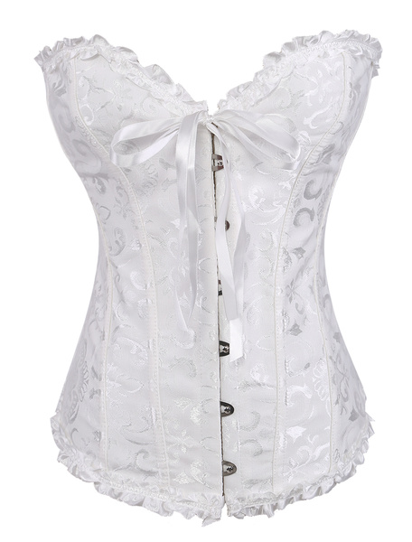 Milanoo Sexy Ruched Jacquard Bustier