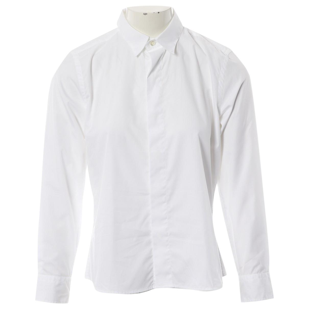 Ami - Top   pour femme en coton - blanc