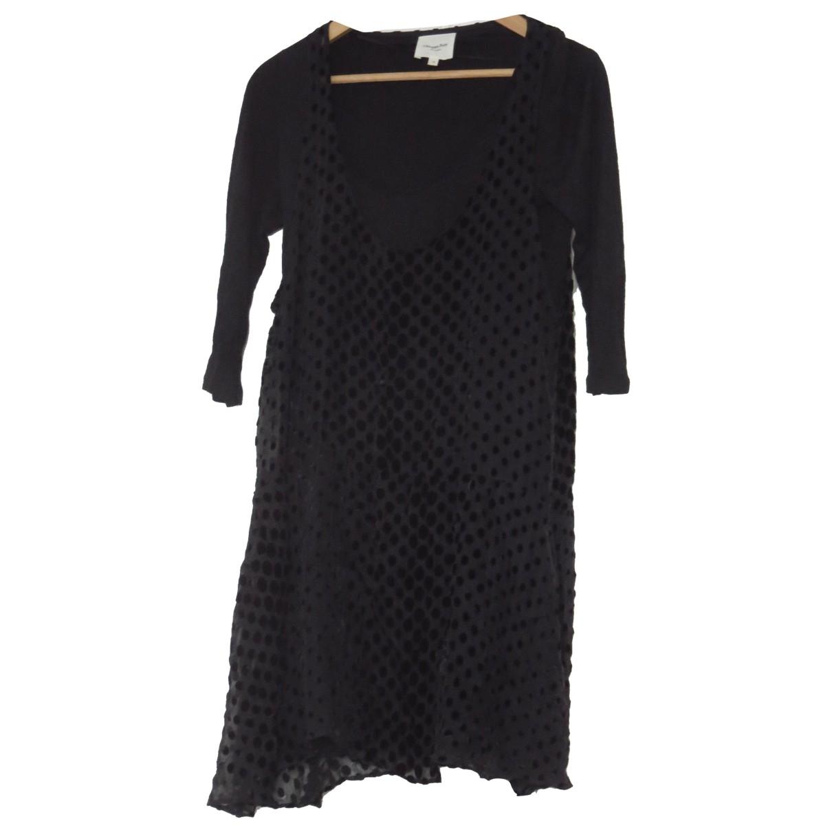 Pablo \N Black Cotton - elasthane dress for Women 36 FR