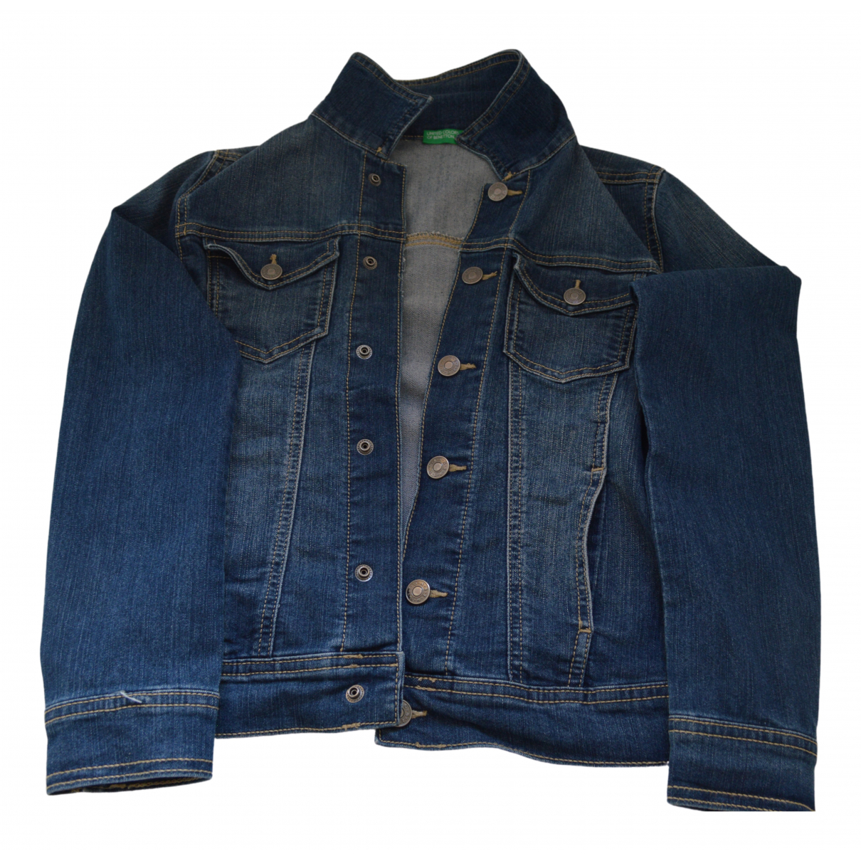 Benetton \N Jacke, Maentel in Denim - Jeans