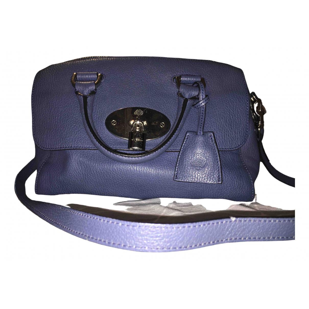 Mulberry Del Rey Handtasche in  Blau Leder