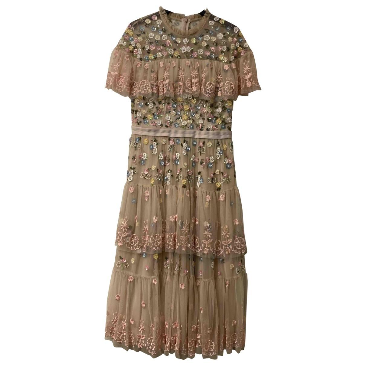 Needle & Thread \N Kleid in  Rosa Spitze