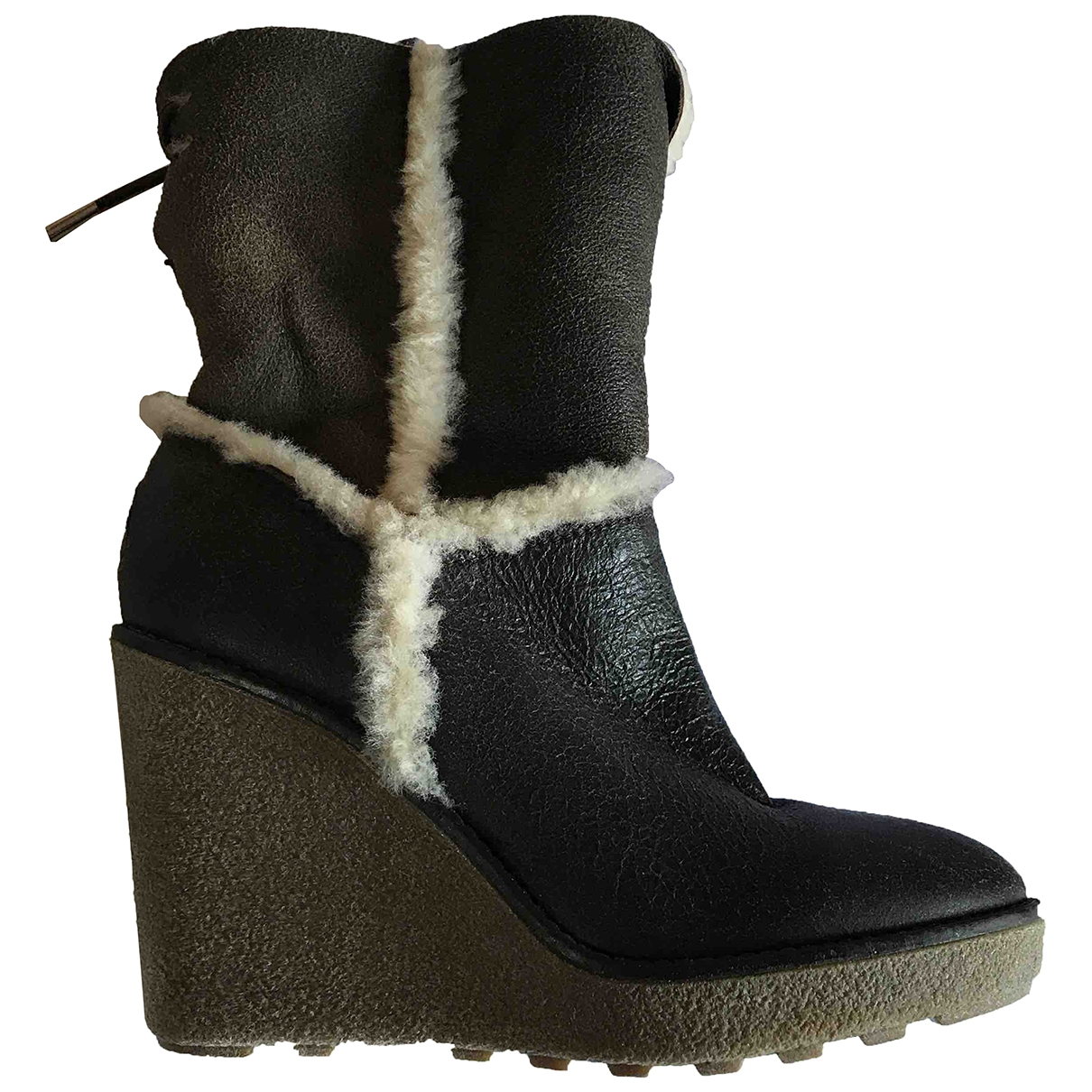 Moncler - Boots   pour femme en cuir