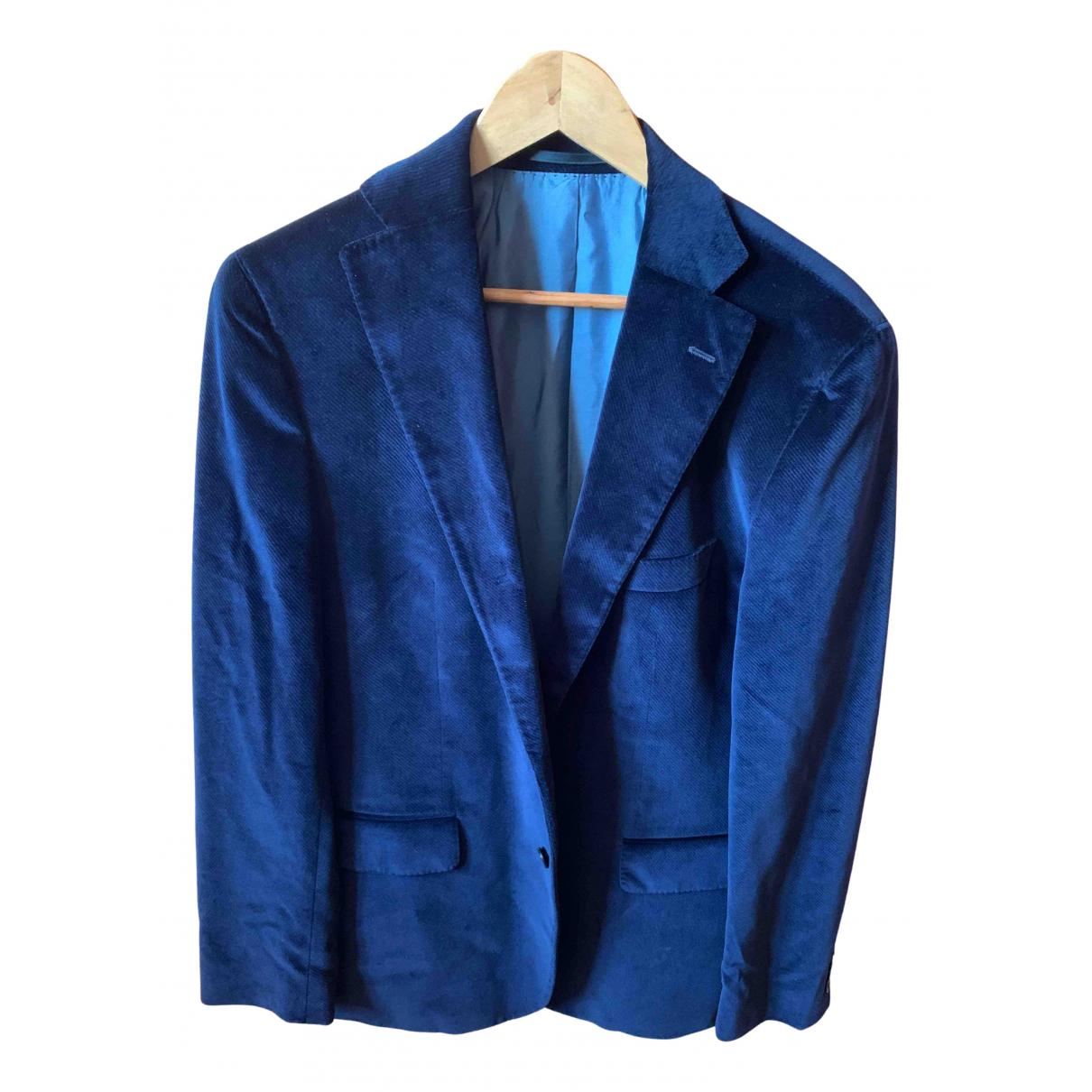 Boss N Blue Cotton jacket  for Men 52 IT