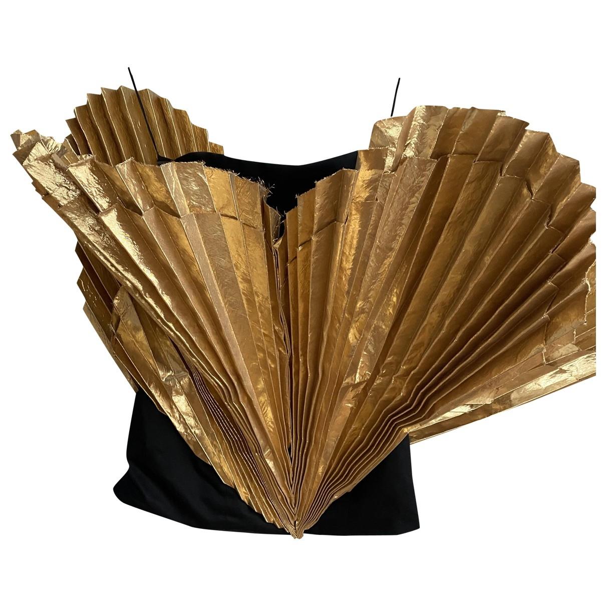 Attico \N Kleid in  Gold Baumwolle