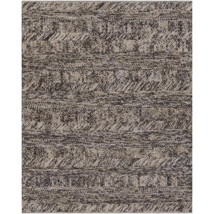 Norway NOR-3701 9' x 13' Rectangle Modern Rug in Charcoal  Light Gray  Camel