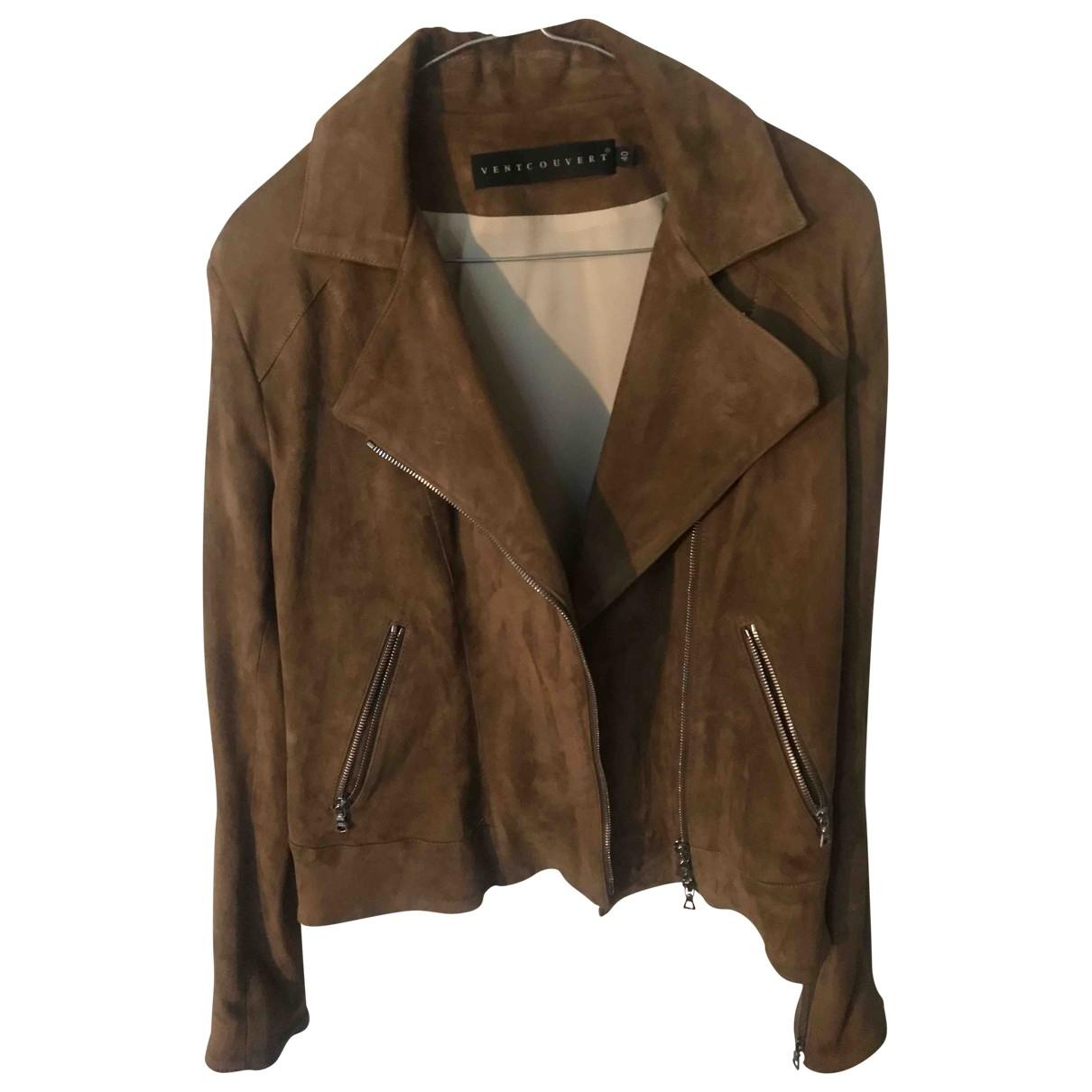 Ventcouvert \N Camel Leather jacket for Women 40 FR