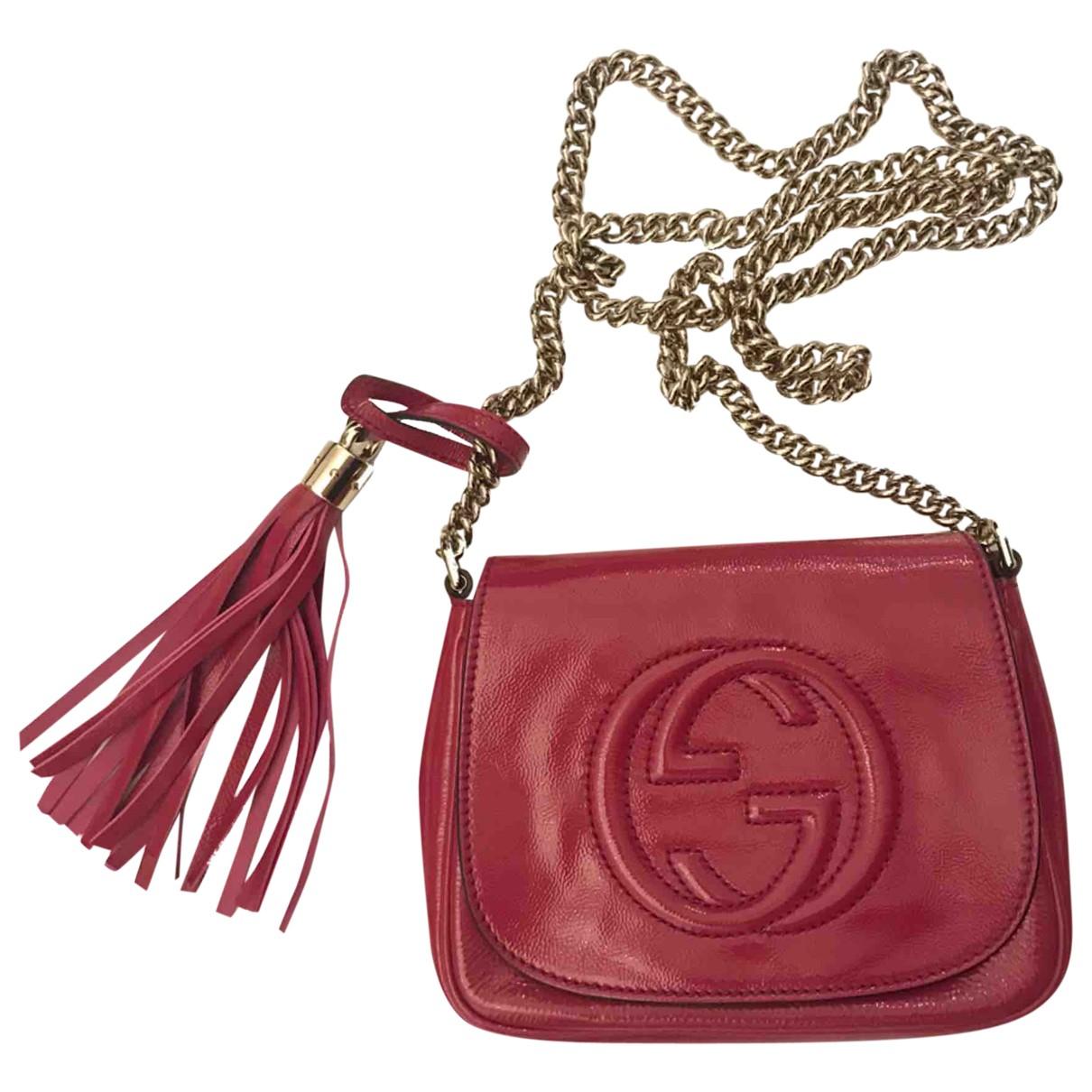 Gucci Soho Pink Patent leather handbag for Women \N