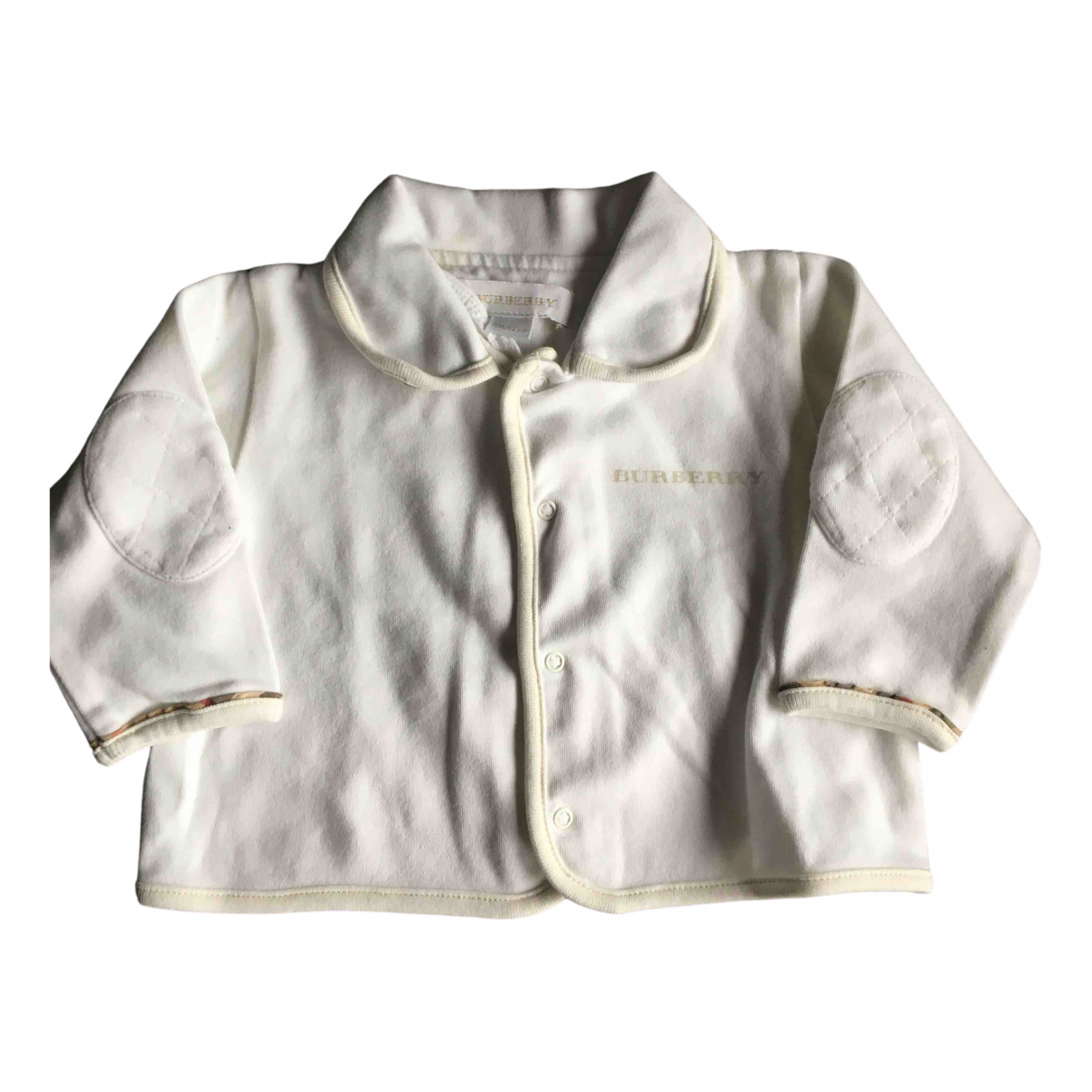 Burberry N White Cotton Knitwear for Kids 3 months - up to 60cm FR