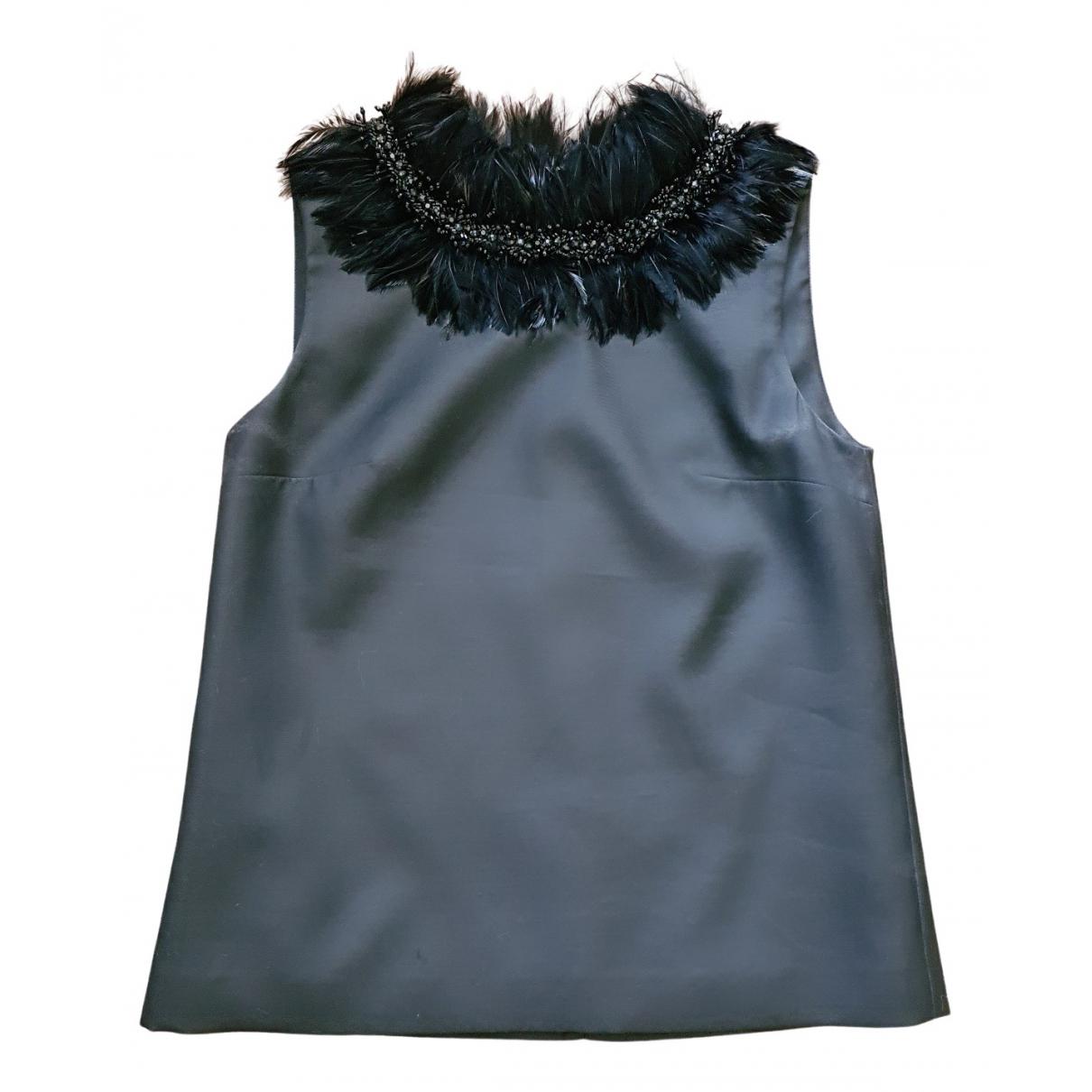 Dsquared2 \N Black Wool  top for Women 42 IT