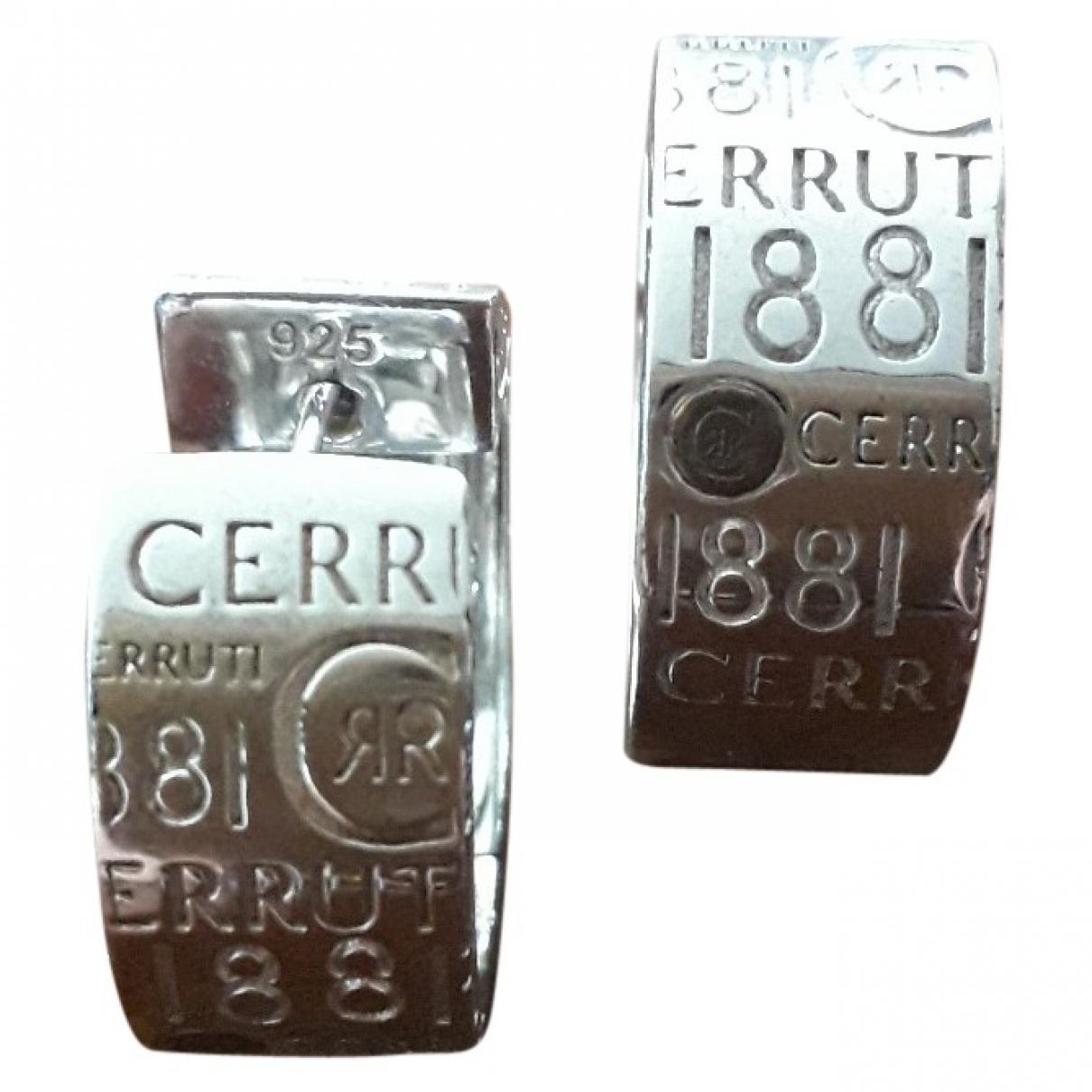Cerruti - Boucles doreilles   pour femme en argent - argente