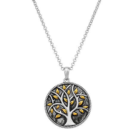 Forever Inspired Womens Sterling Silver Round Pendant Necklace, One Size , No Color Family