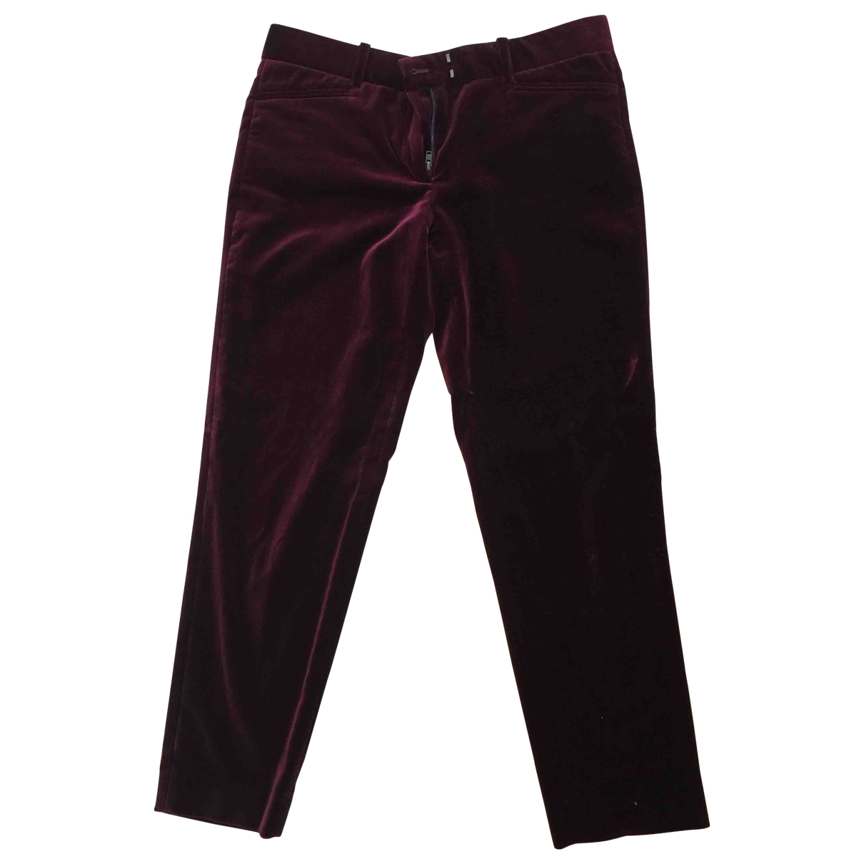 Pablo \N Burgundy Cotton Trousers for Women 38 FR