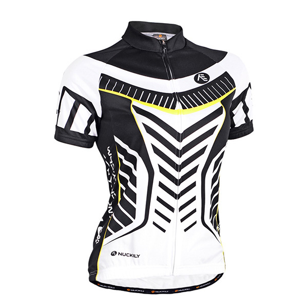 Female Streamline Breathable Short Sleeve Jersey with Full Zipper Cycling Jersey