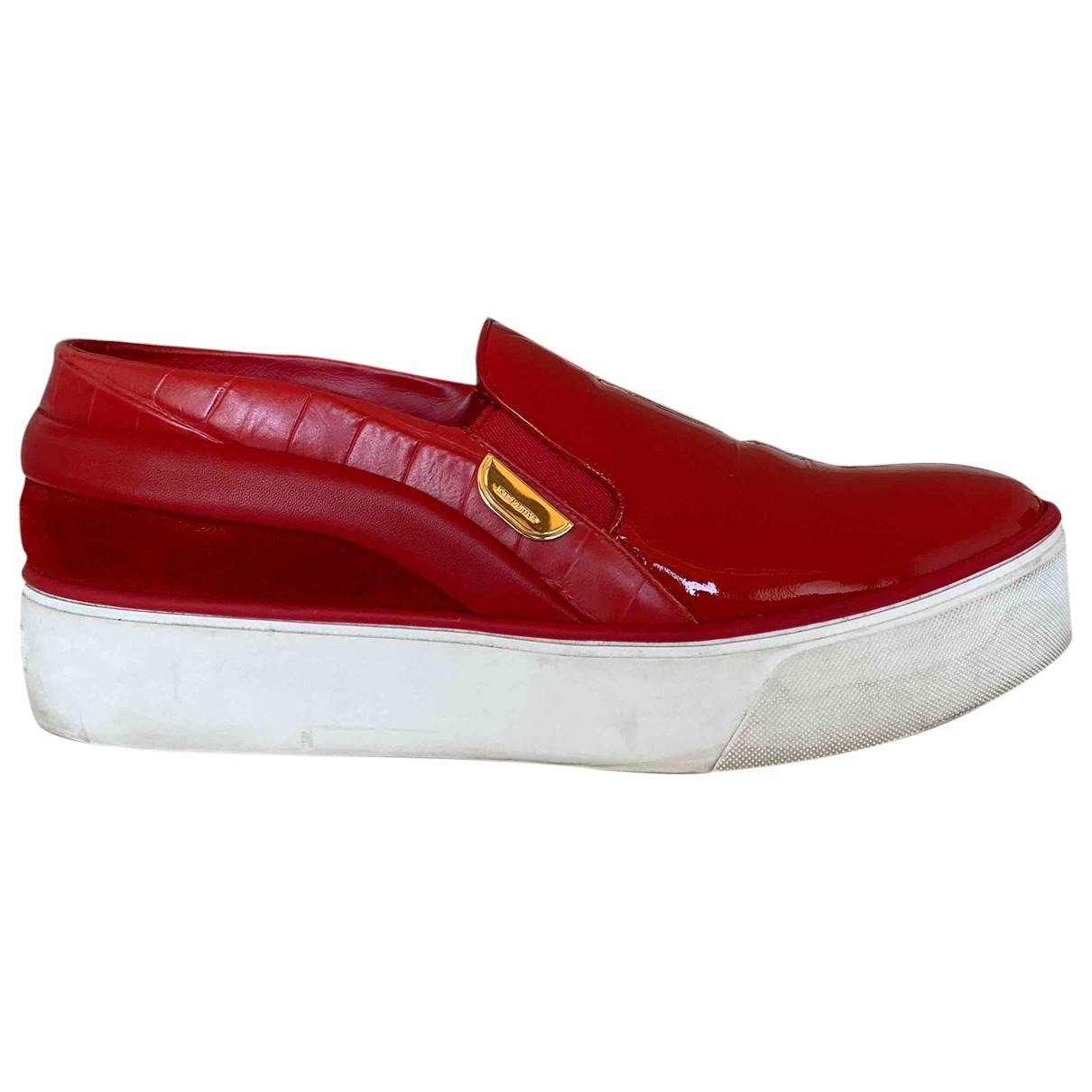 Louis Vuitton - Baskets   pour femme en cuir - rouge