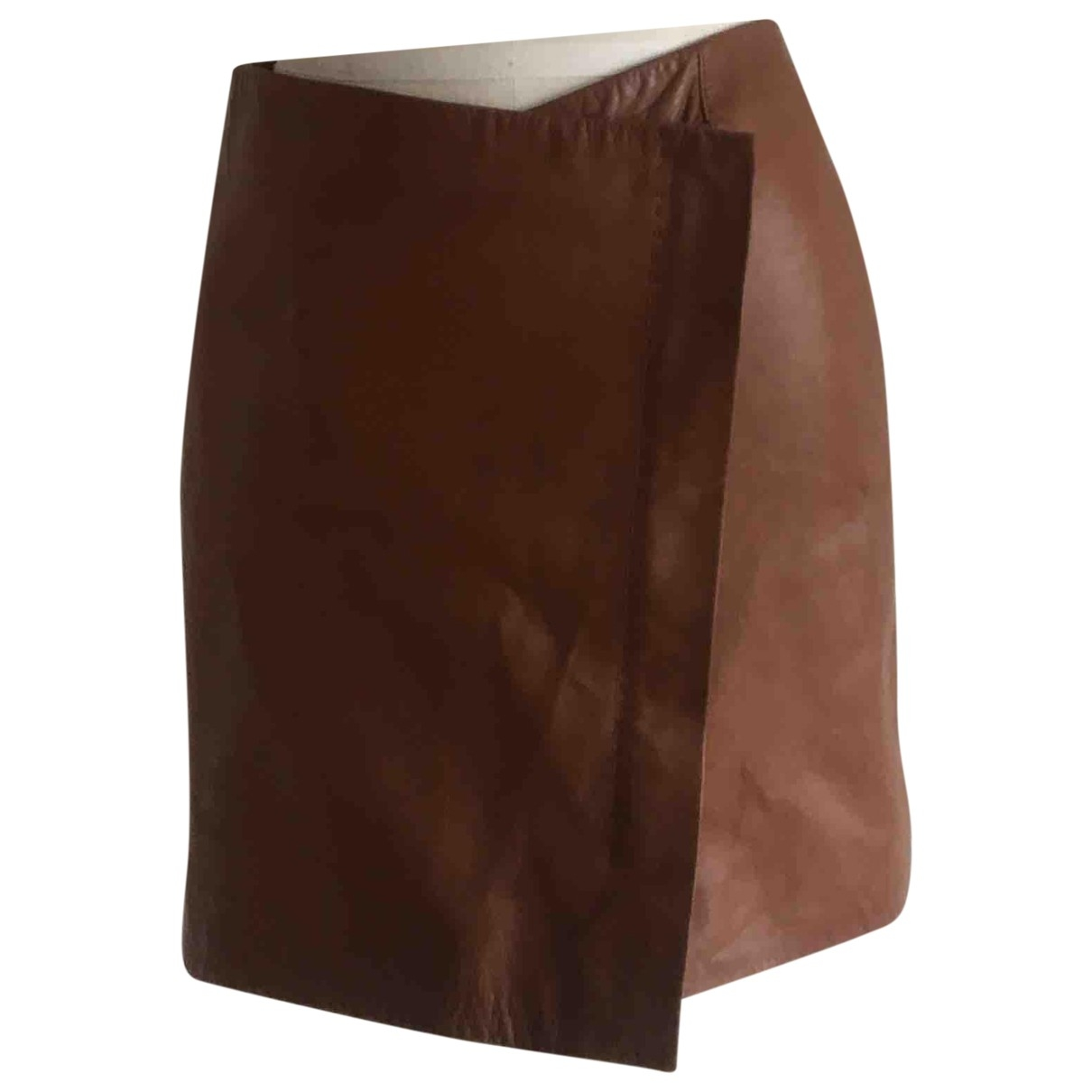 Amanda Wakeley \N Brown Leather skirt for Women 10 UK