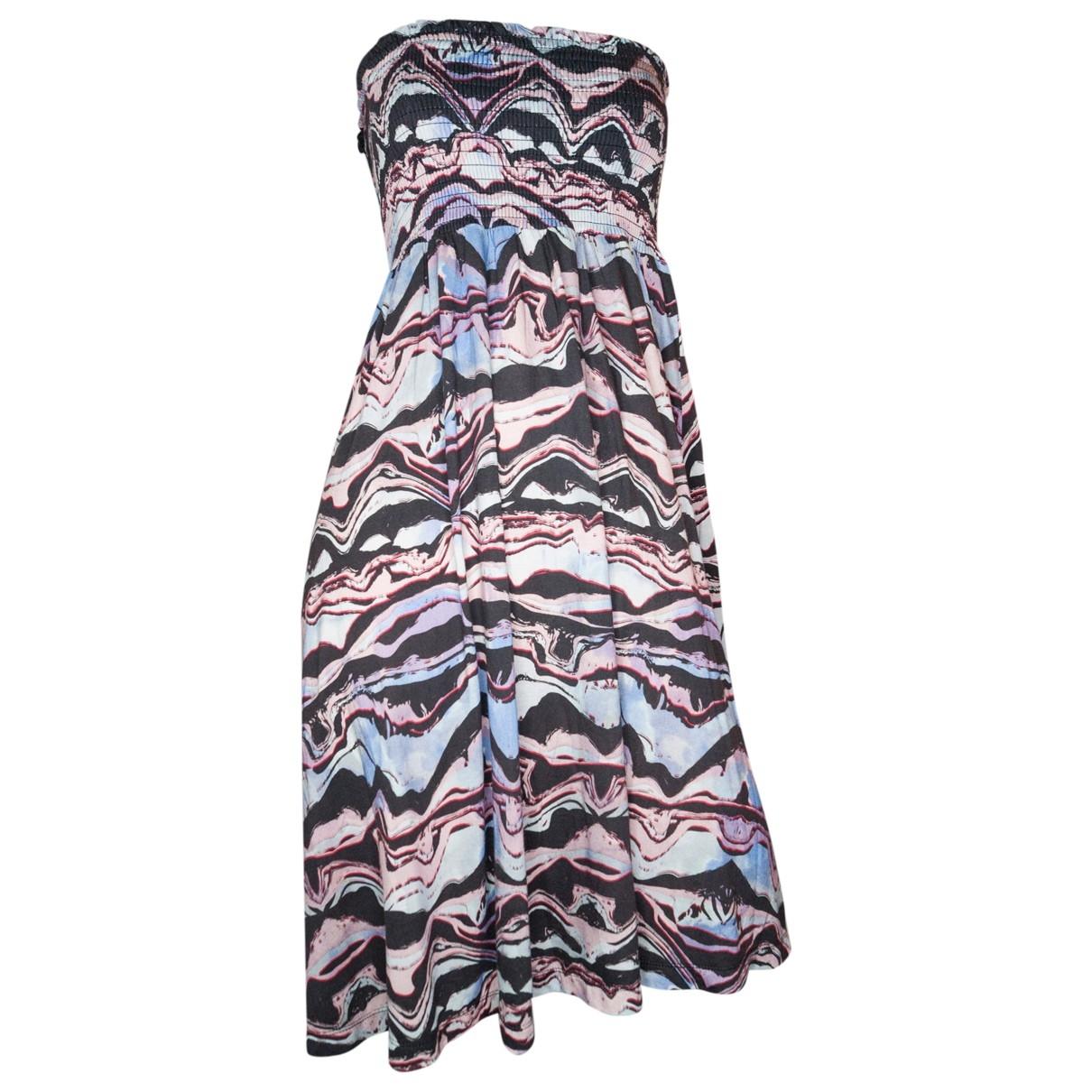 Ichi \N Kleid in  Blau Viskose