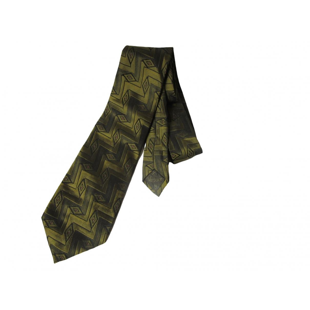 Gianni Versace \N Krawatten in  Gold Seide