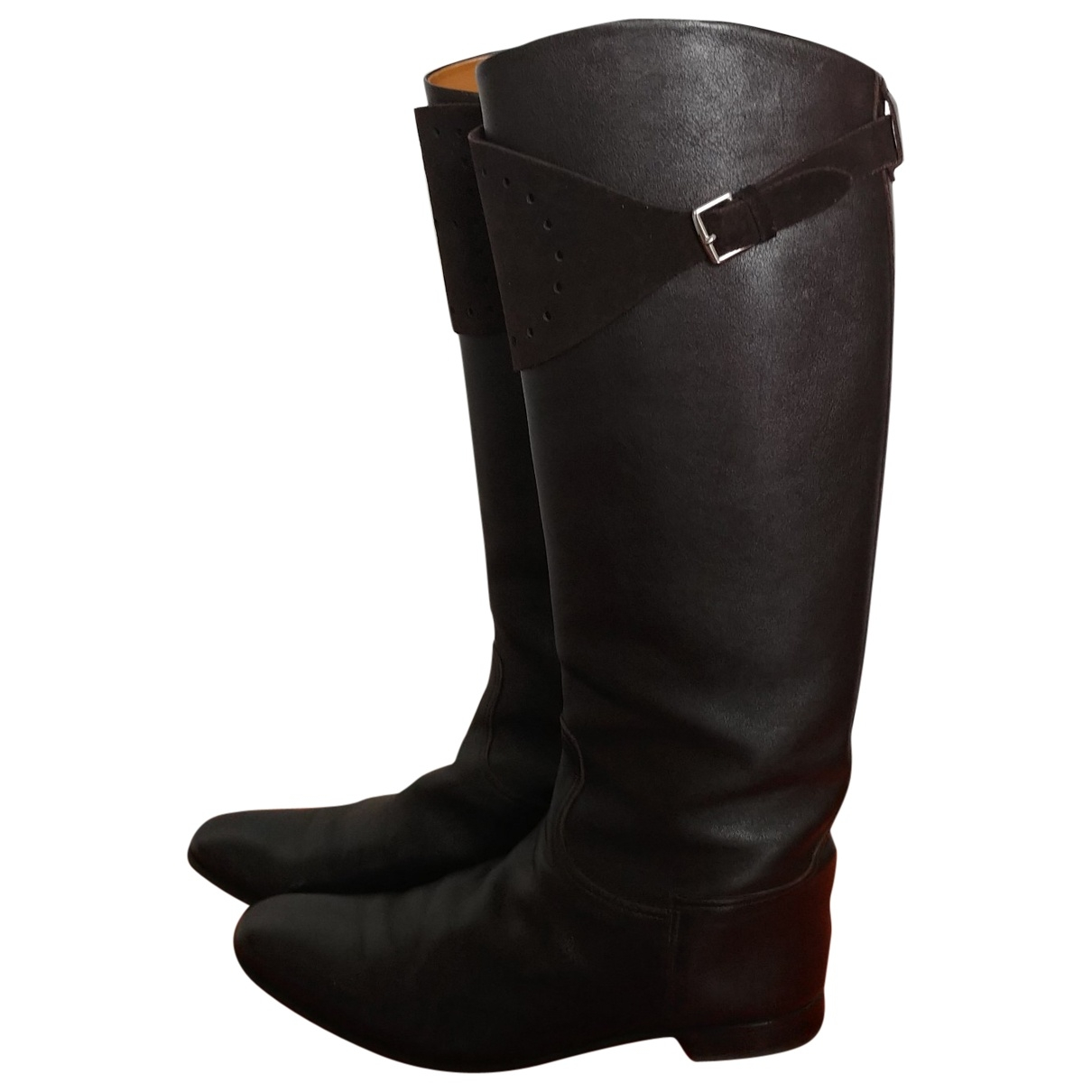 Hermès \N Brown Leather Boots for Women 39 EU