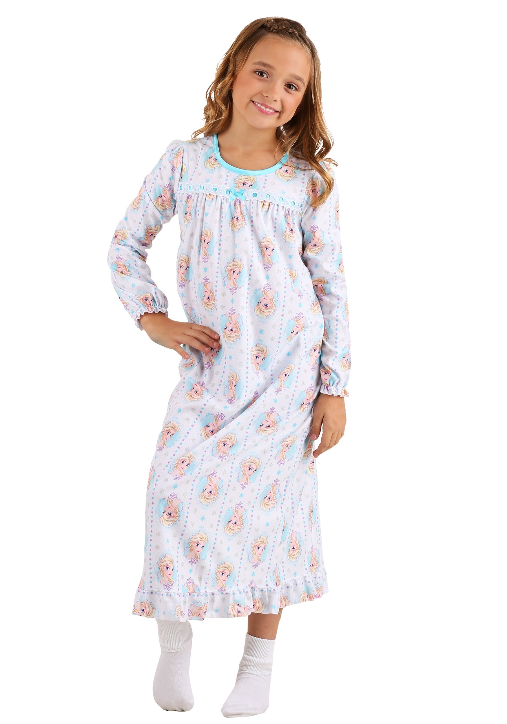 Frozen Elsa Granny Gown Sleepwear for Girls