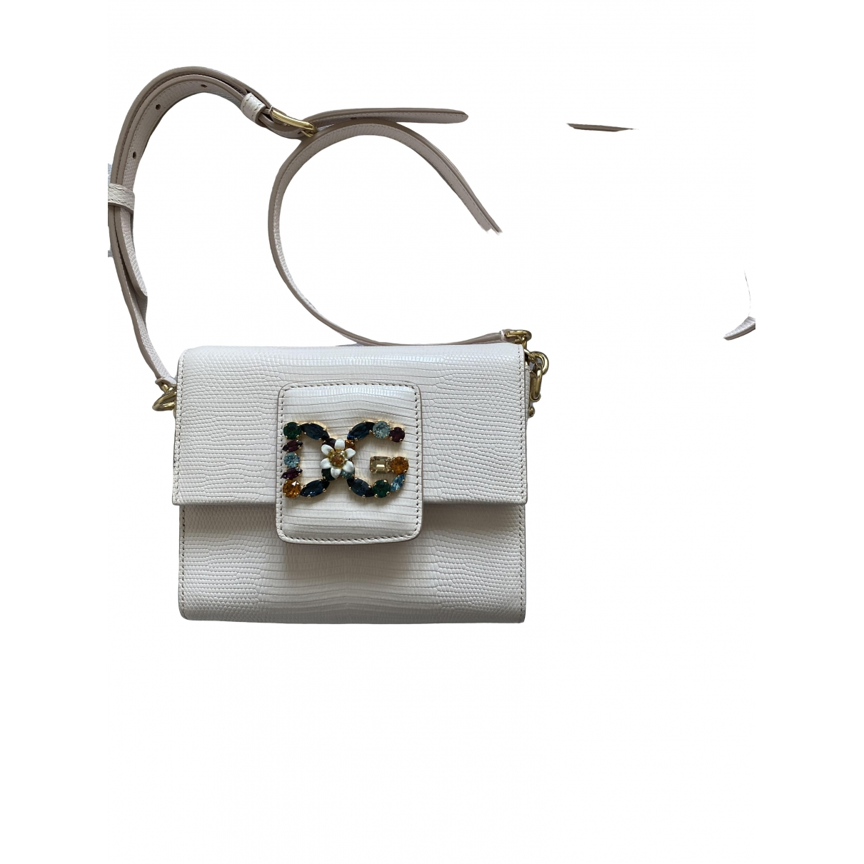 D&g \N Ecru Leather handbag for Women \N