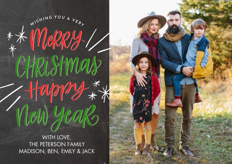 Christmas Photo Cards 5x7 Cards, Premium Cardstock 120lb with Rounded Corners, Card & Stationery -Christmas Winter Wishes by Tumbalina
