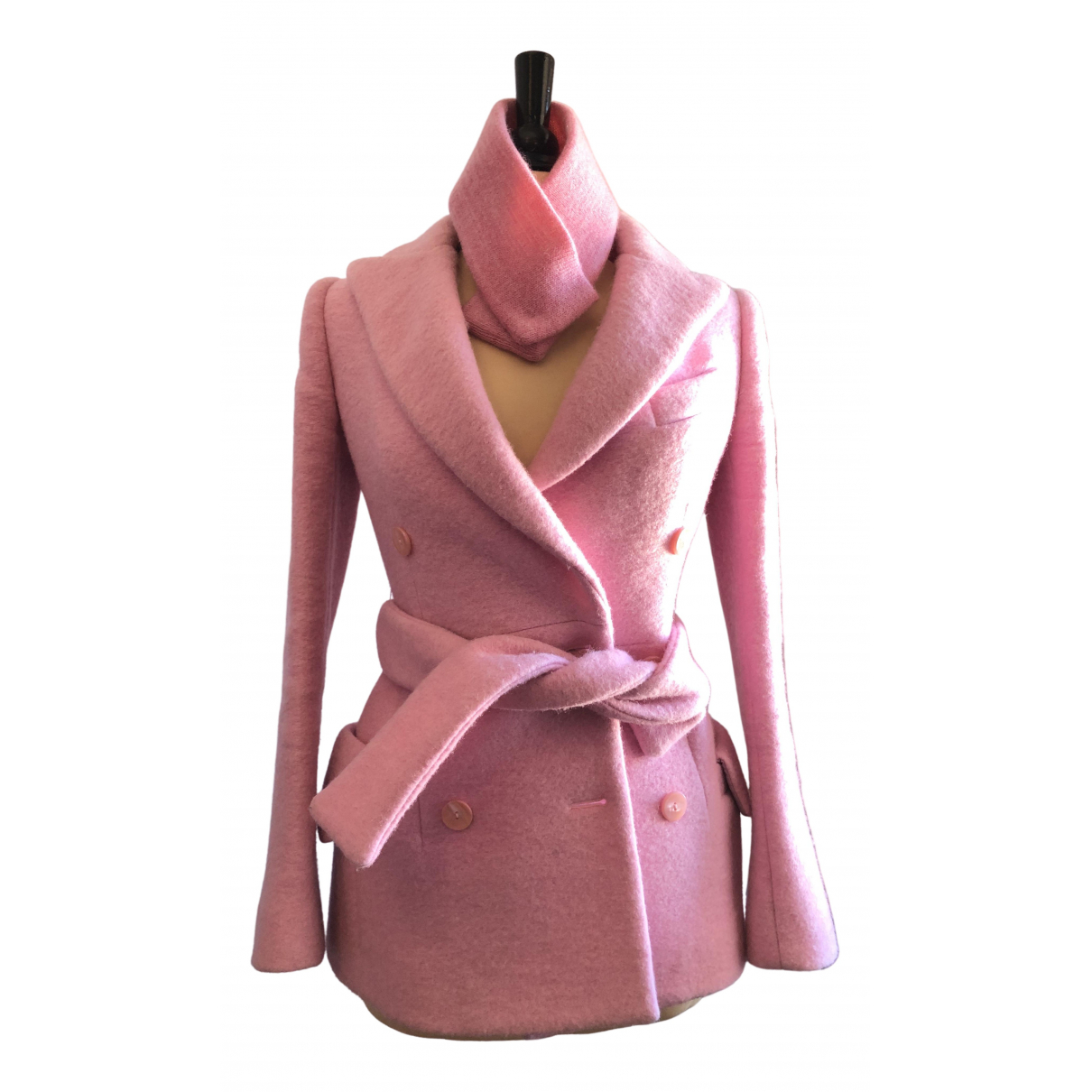 Carven \N Pink Wool jacket for Women 36 FR