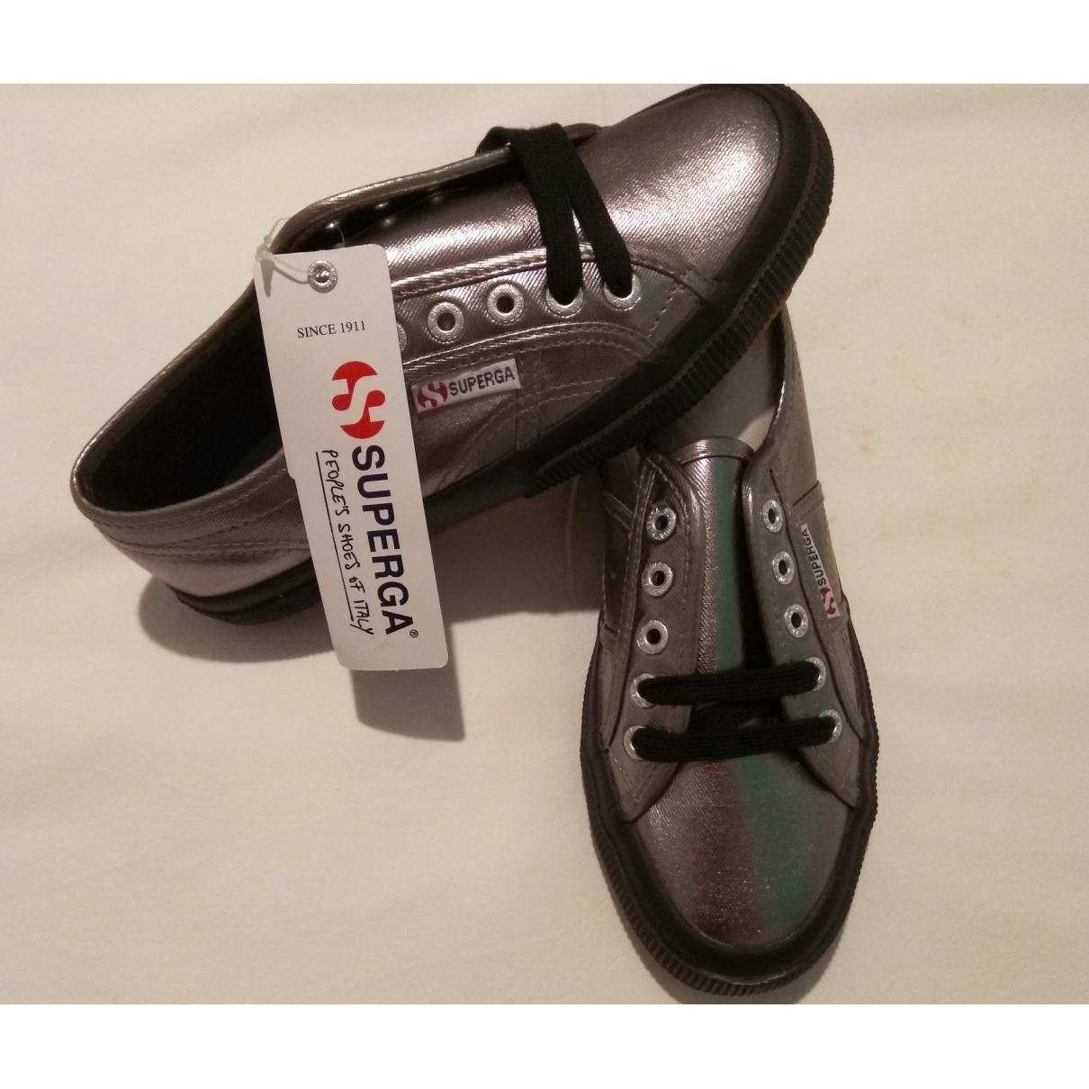 Superga \N Grey Cloth Trainers for Women 2.5 UK