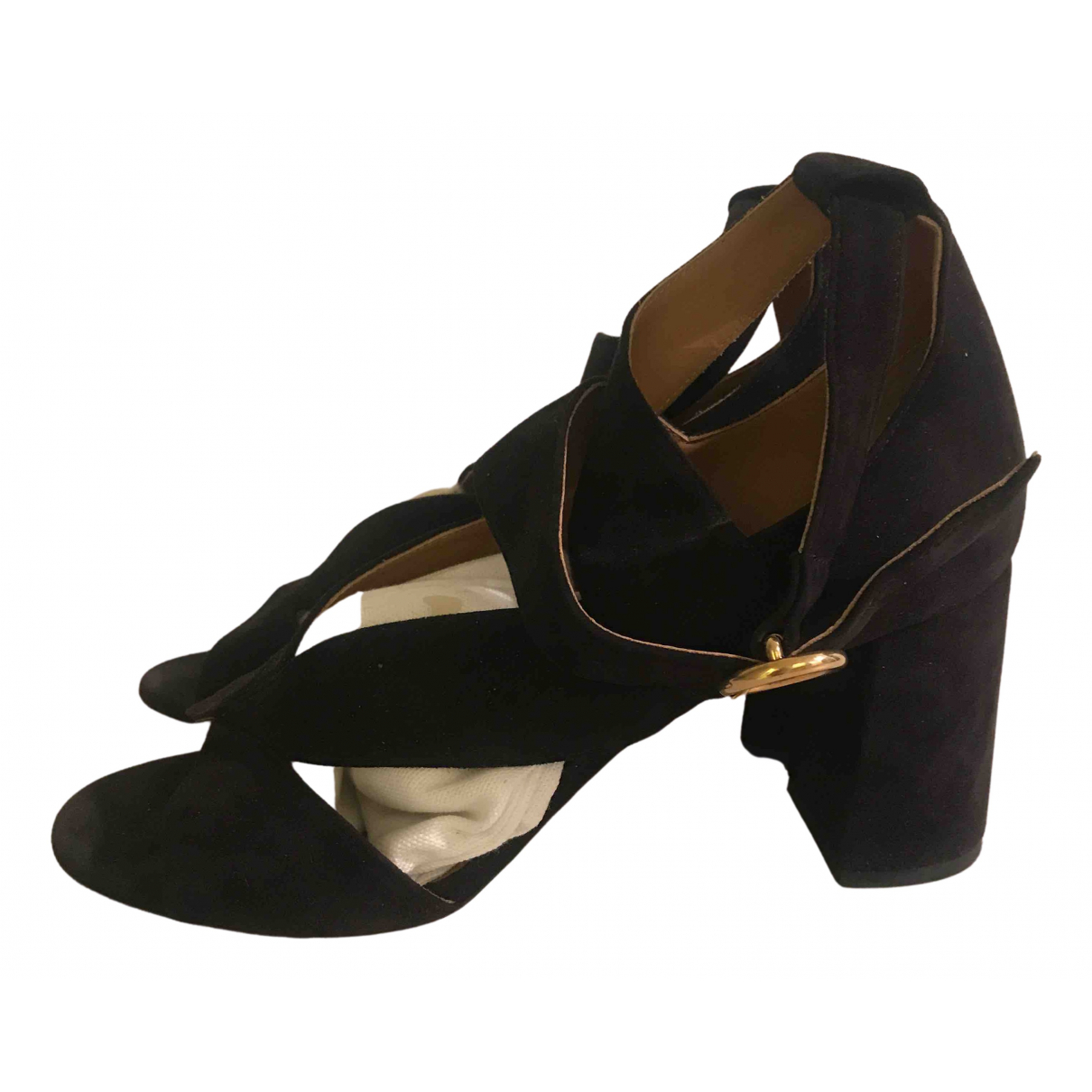 Chloé N Black Suede Sandals for Women 39 EU