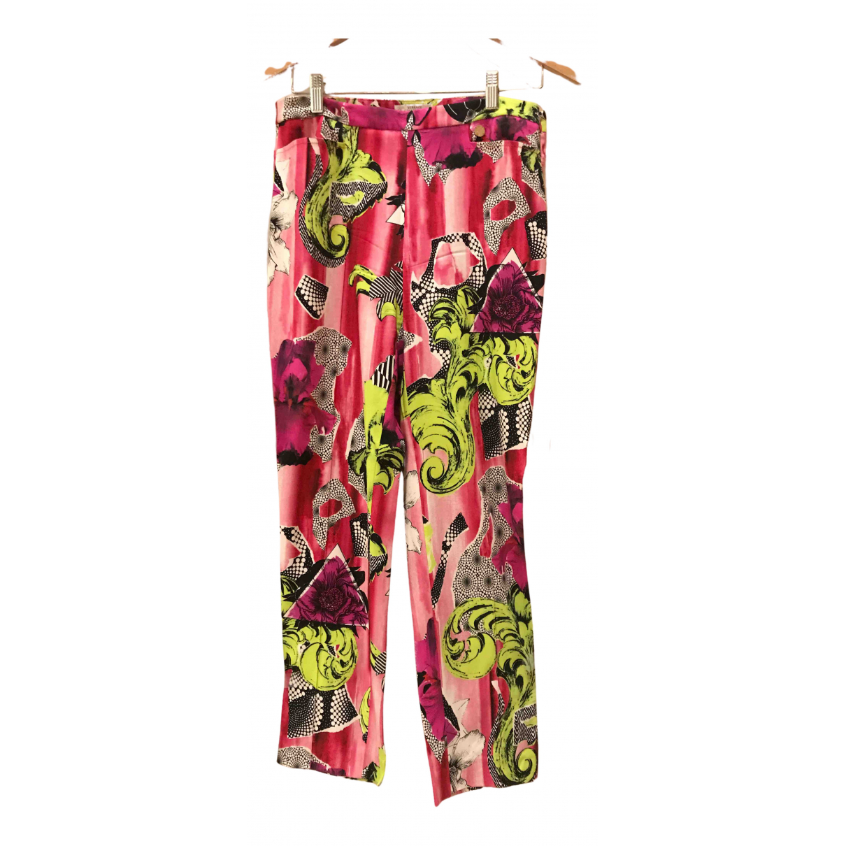 Versace N Pink Trousers for Women 42 IT