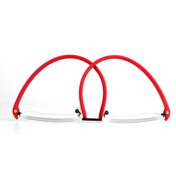 Womens Mens Folding Half Frame Reading Glasses Computer Best Elastic Frame Prescription Glasses