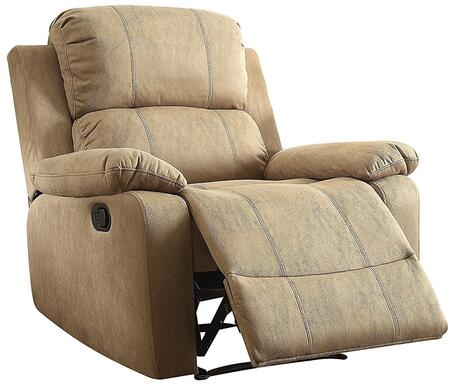 Bina Collection 59526 38 Recliner with 10mm Memory Foam Seat  External Latch Handle  Tight Cushion  Pillow Top Arms and Polished Microfiber