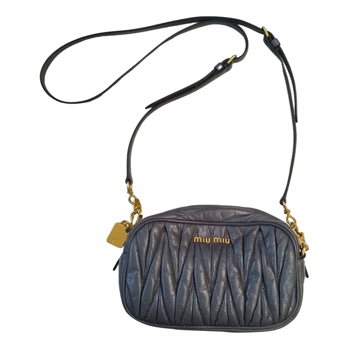 Miu Miu Matelasse Handtasche in Leder