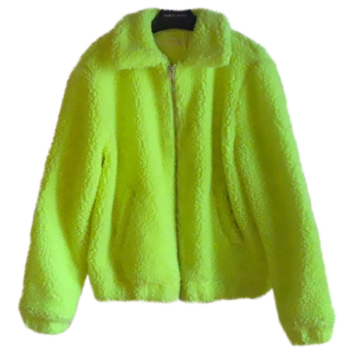 Non Signé / Unsigned \N Yellow Faux fur jacket for Women 40 IT
